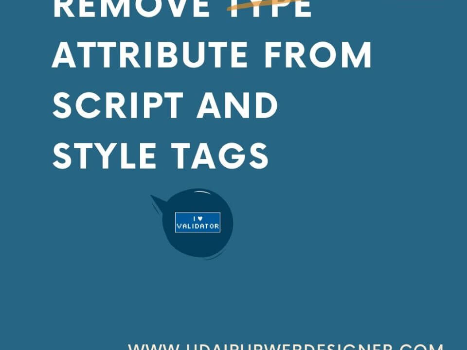 Remove type attribute from script and style tags