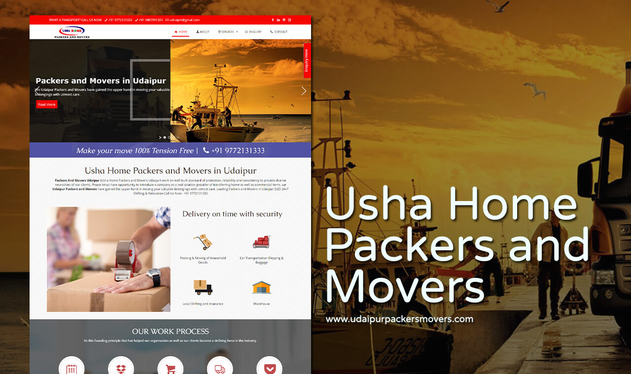 Udaipur Packers Movers portfoilio