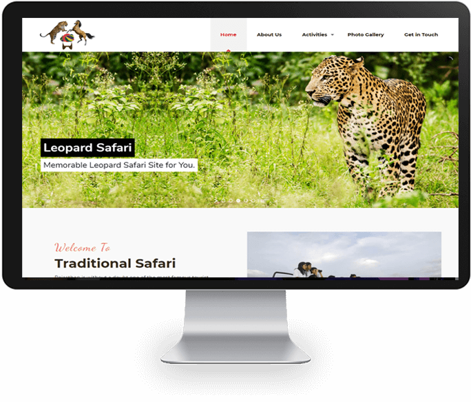 Wildlife Safari Website Designer