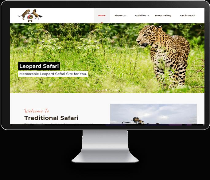 Wildlife Safari Website Designer