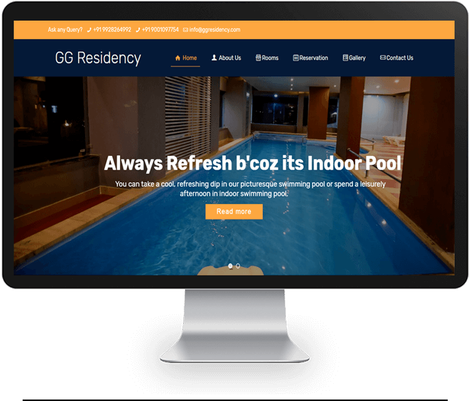 budget hotels website designer