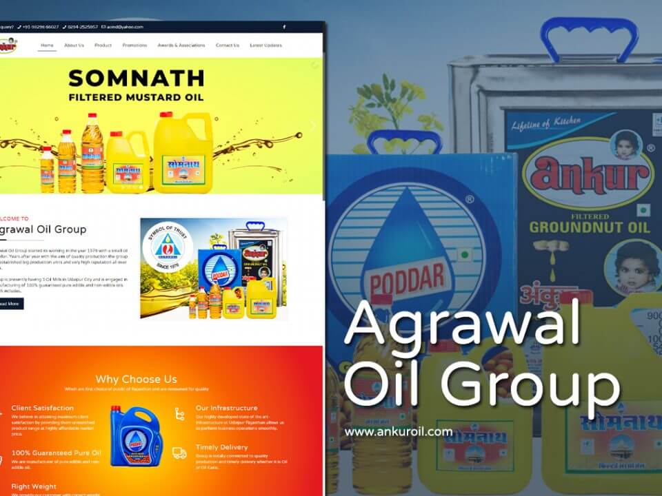 cooking oil website design
