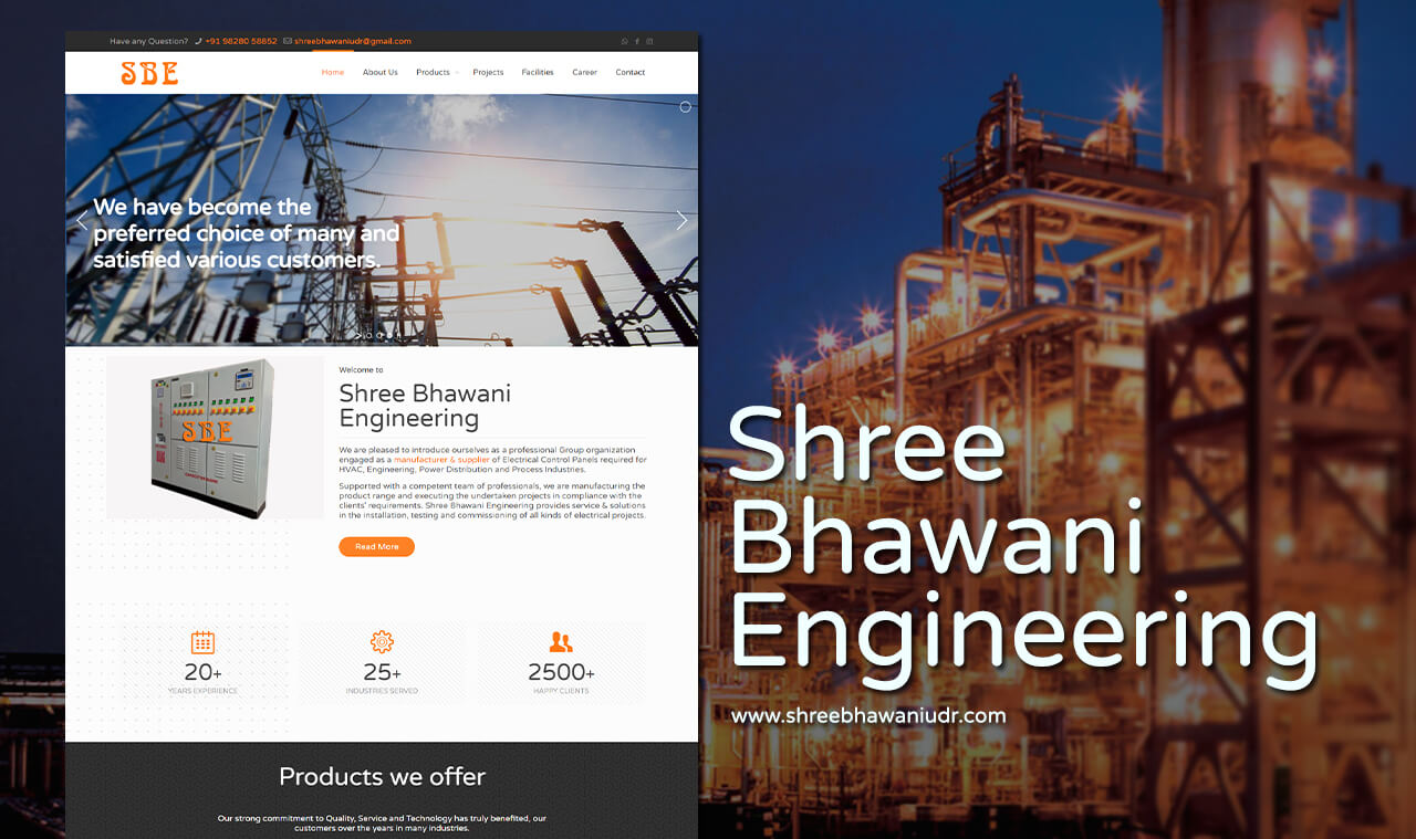 electrical-products-manufacture-website-design