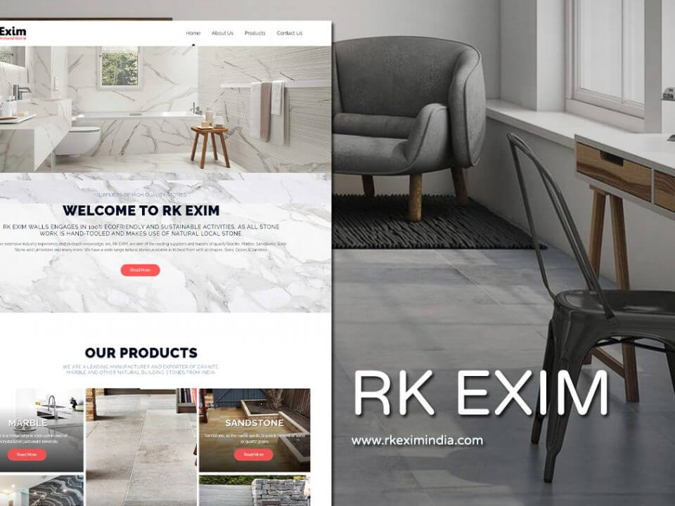 granite exporter website design