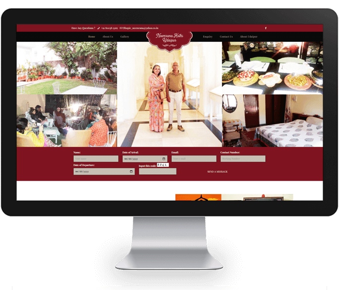 guest house website designer