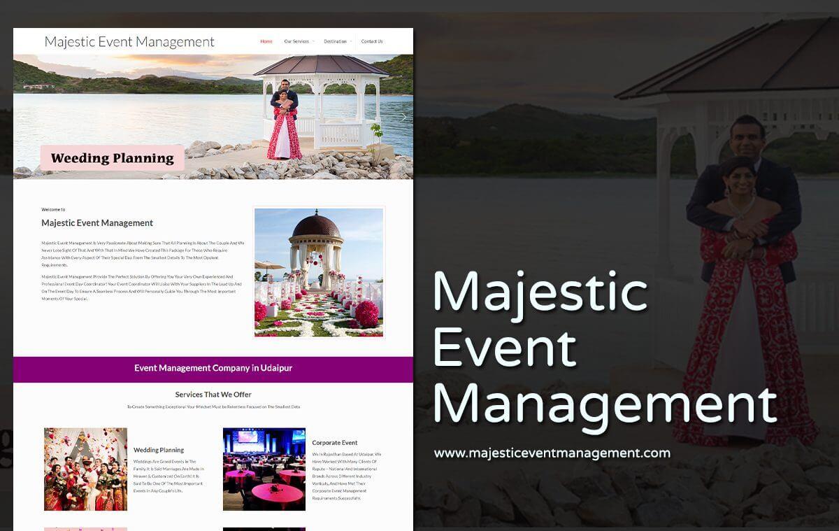 Event Management Website Designers