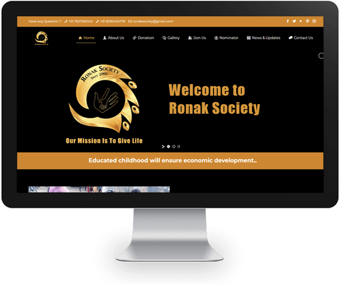 ngo website design company udaipur