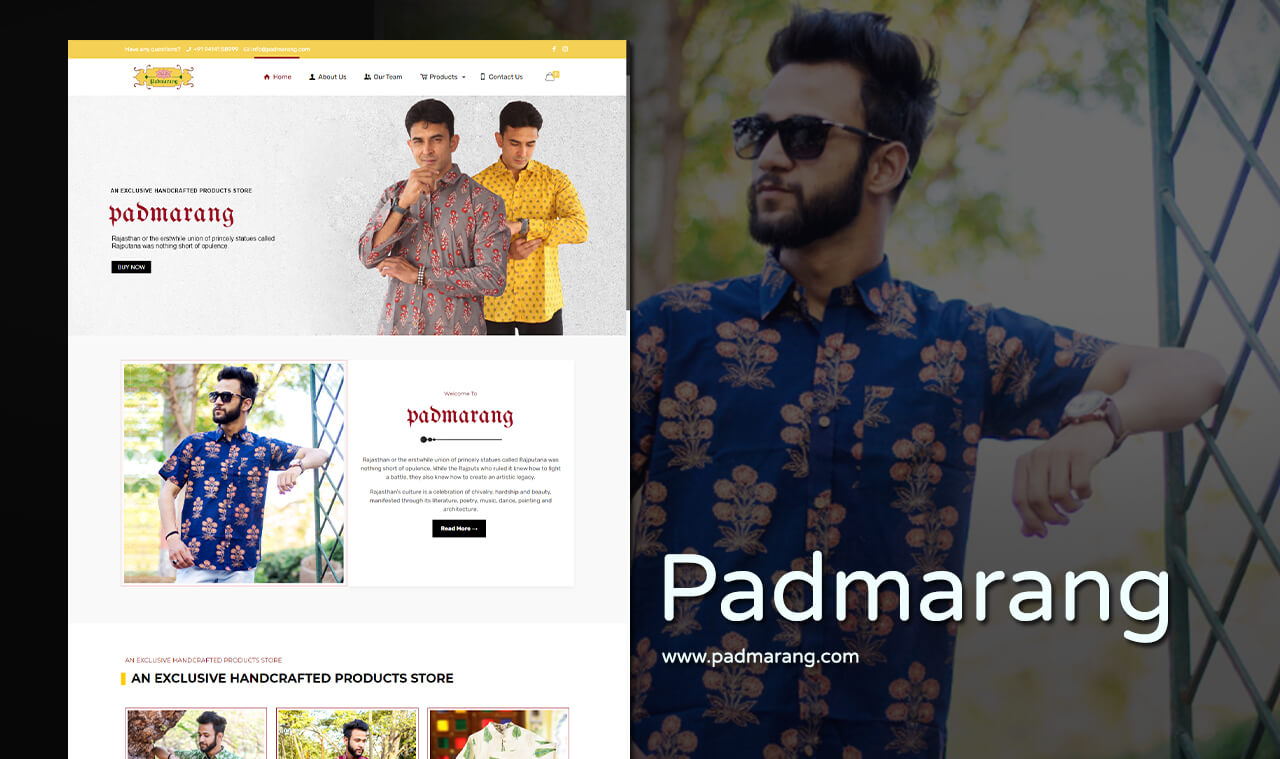 fashion website design