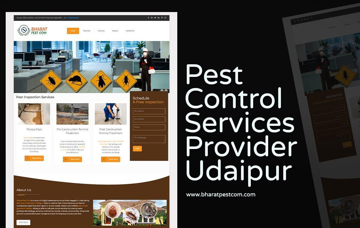 pest control website designer