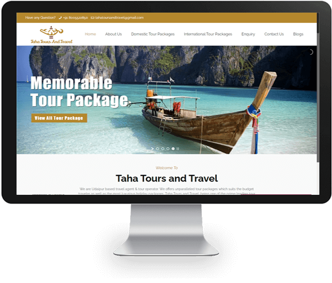 tour and travel planner website designer