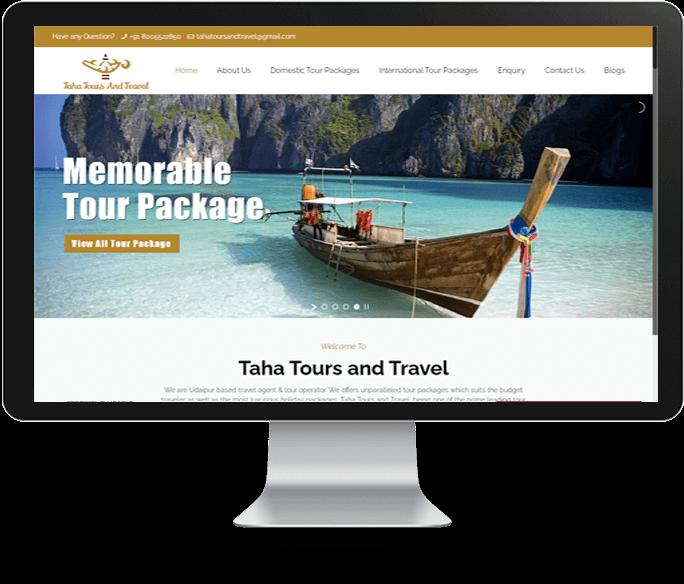 tour and travel planner website designer